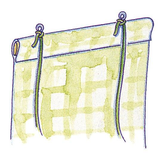 Как сделать рулонные шторы своими руками