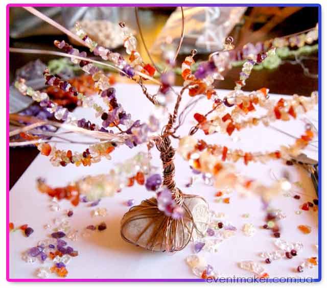 дерево счастья из бусин своими руками