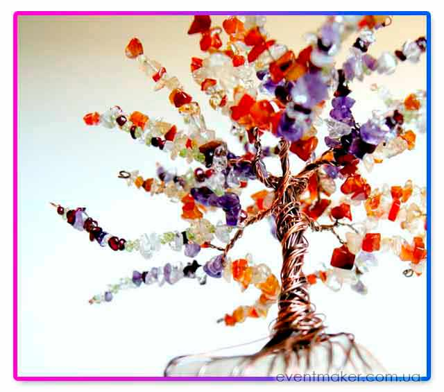 дерево счастья из бусин
