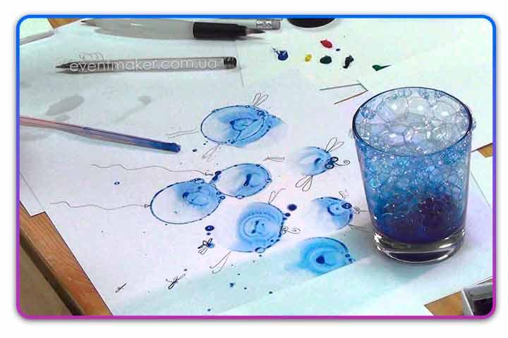 Рисунок мыльными пузырями
