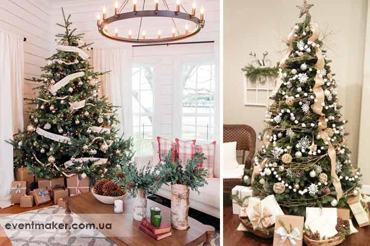 Как украсить елку в рустикальном стиле