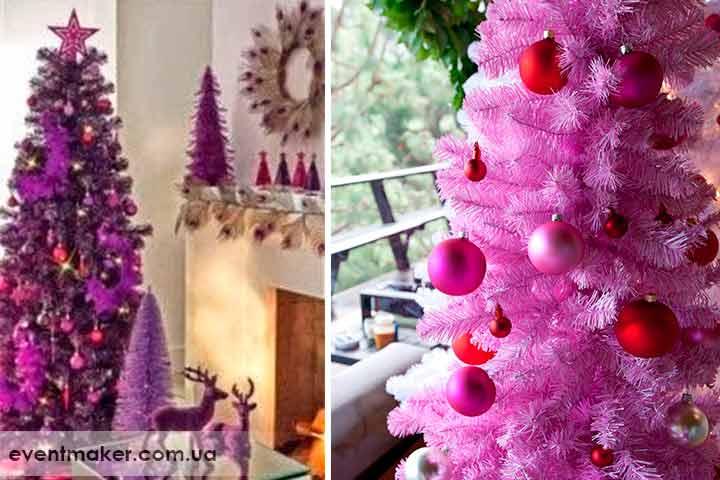 Как украсить елку Фиолетово пурпкрного цвета