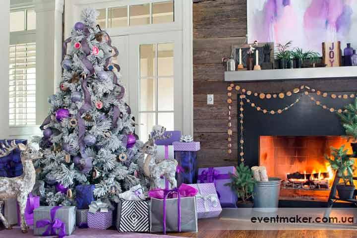 Как украсить елку в совмещенном стиле