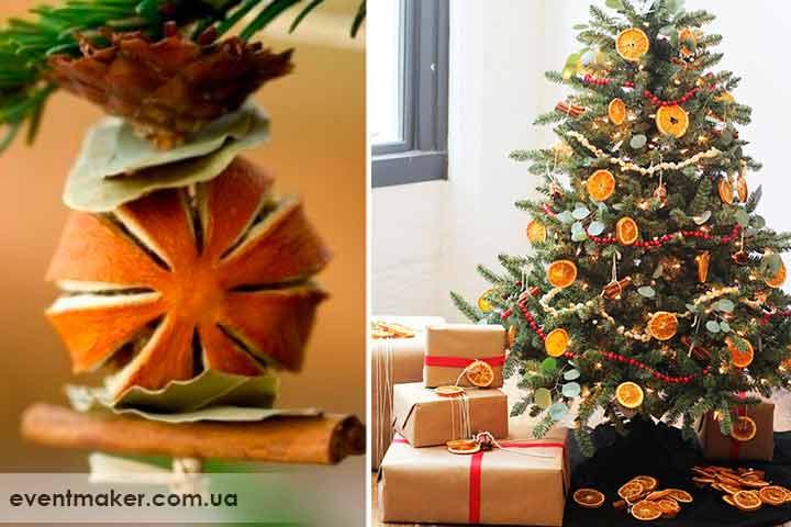 Как украсить елку эко украшениями