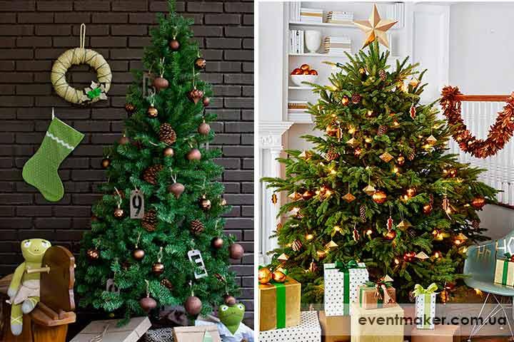 Как украсить елку нейтральный декор