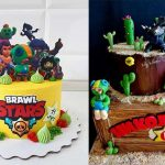 день рождения в стиле Бравл Старс торт